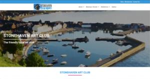 stonehaven art club website screenshot