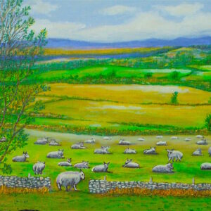 View from Maryculter with Sheep
